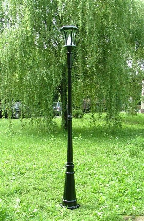 backyard light post 7 ft solar l post light gs 94