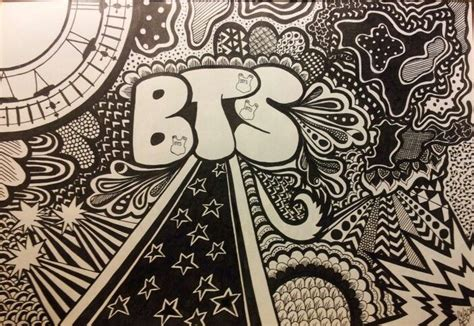 doodle how to draw doodle drawing pattern kpop bts bangtanboys