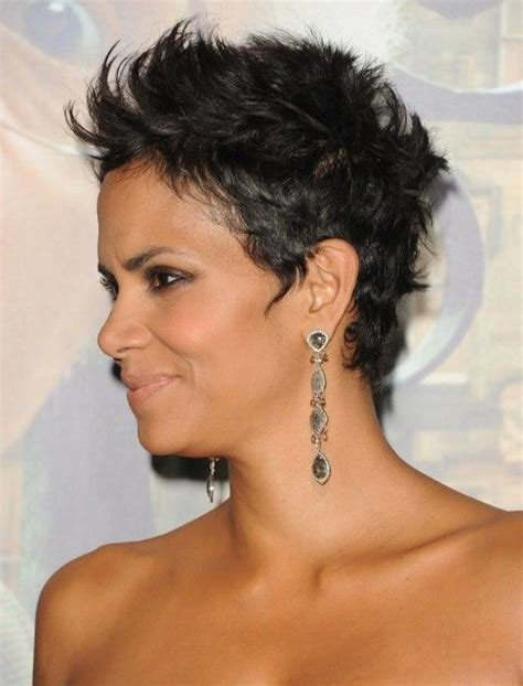 back view of halle berry hair halle berry black cropped pixie haircuts halle berry