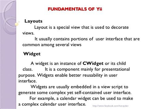 layout view yii yii php framework honey