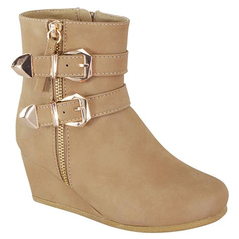 Best Seller Wedges On 02 Wedges link peggy 90k s wedge heel straps high top ankle booties ebay