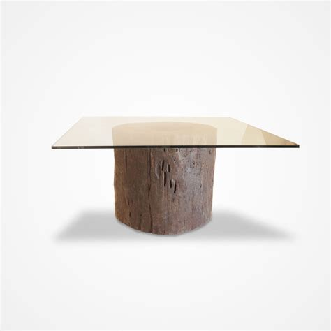 Tree Trunk Dining Table With Glass Top Glass Top Mussutaiba Tree Trunk Dining Table Rotsen Furniture