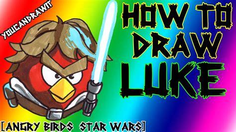 Bird Batman Anakan how to draw luke skywalker bird from angry birds wars