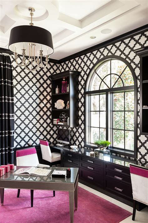 black and white home interior 30 black and white home offices that leave you spellbound