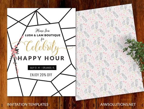 happy hour invitation template invitations event template save the date template flyer