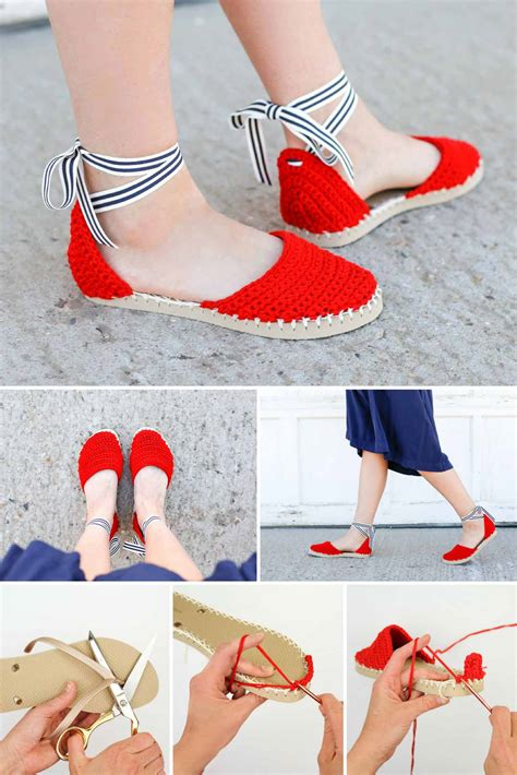 diy toeless socks crochet espadrilles with flip flop soles free pattern