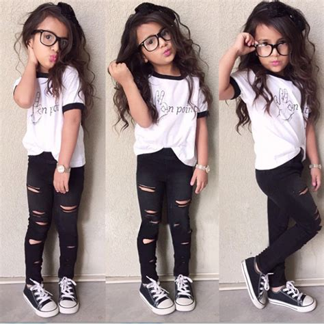 the latest fashion trends for 10 year olds kids girls clothes clothing 2016 summer sport roupas