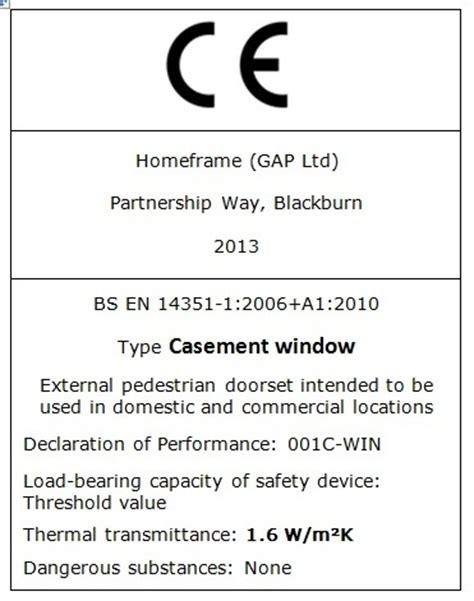 Ce Label Template Homeframe Ce Approved Gap Ltd