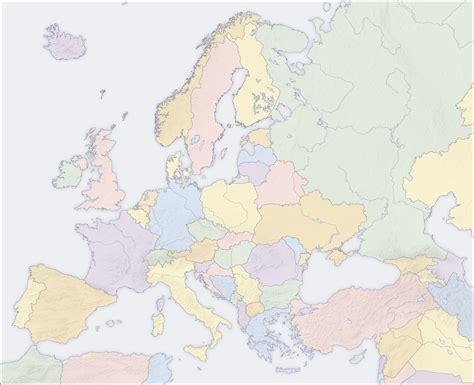 Map Of Europe Without Names by Map Of Europe Political Map Without Country Names