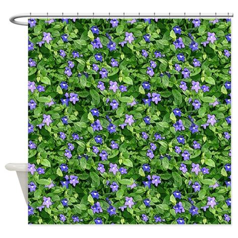 periwinkle shower curtain periwinkle blooms shower curtain by thehappymuse