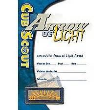 arrow of light certificate template cub scout pocket certificates