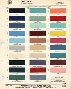 1956 f100 paint colors 1955 ford paint color codes