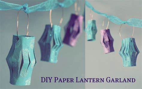 How To Make Lantern At Home With Paper - how to make paper lanterns garland for wedding