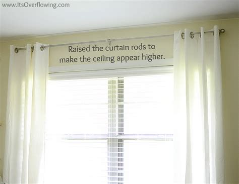 how high curtain rod curtain reveal how to hang curtain rods its overflowing