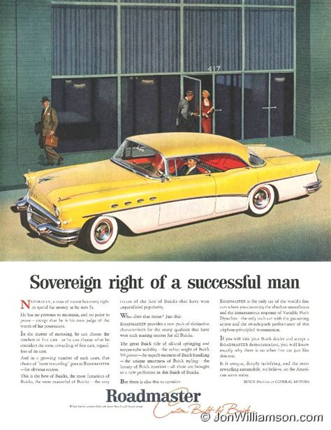 buick advertising quot 50 s quot car ads on sedans buick and station wagon