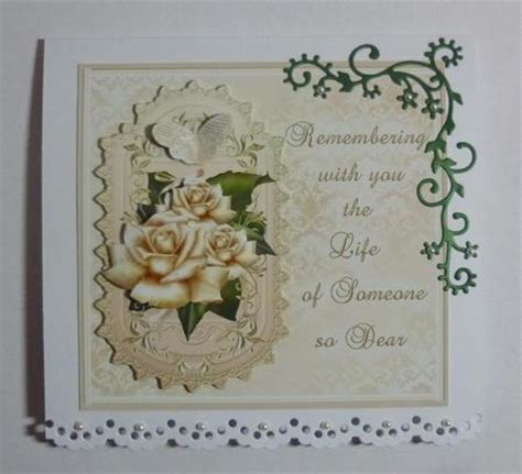 sympathy cards to make golden memories sympathy card front topper with decoupage