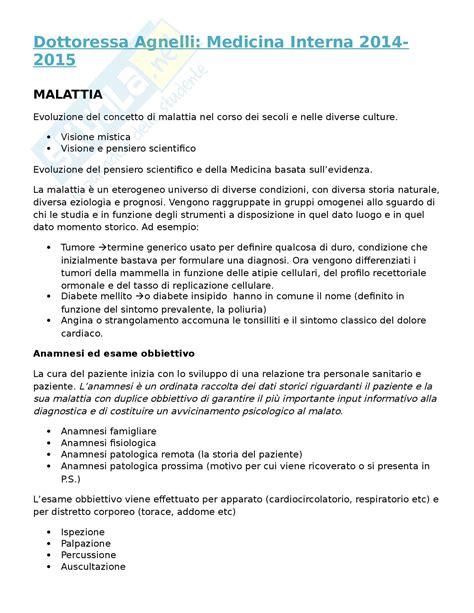 appunti medicina interna ipertensione arteriosa appunti di medicina generale