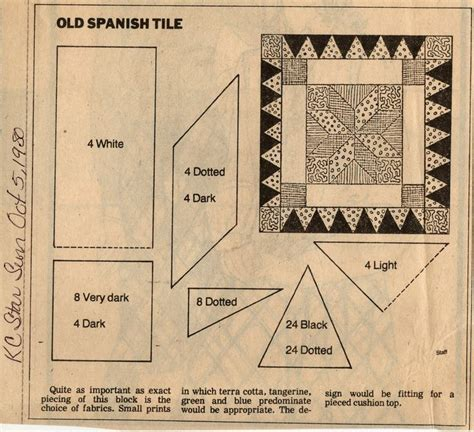 pattern block en espanol 170 best quilts newspaper kansas city star images on