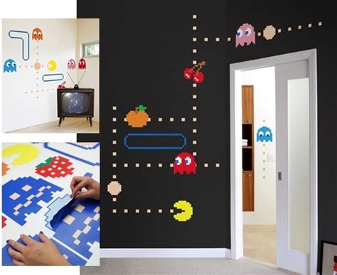 pac wall stickers wall stickers with pacman decor for my apartament