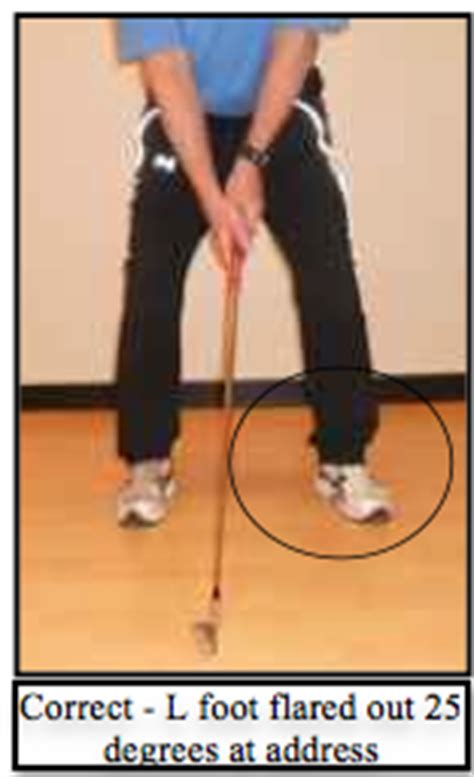 left foot position in golf swing turn left foot out for golf setup and address position solutions for golfers over 50
