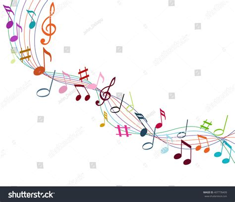 dark color musical notes vector color music notes on solide white stock vector 407778409