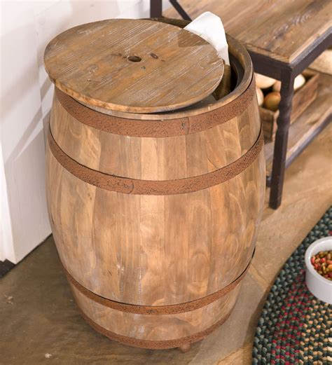 Deep Creek Wine Barrel Storage Table   So That's Cool