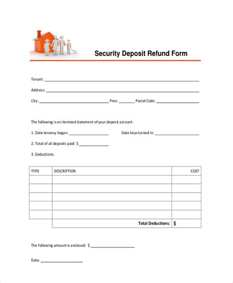 refund receipt template sle deposit forms 16 free documents in pdf