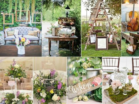 Shabby Kecil Planner Table Decoration mariage shabby chic fantaisie wedding planner