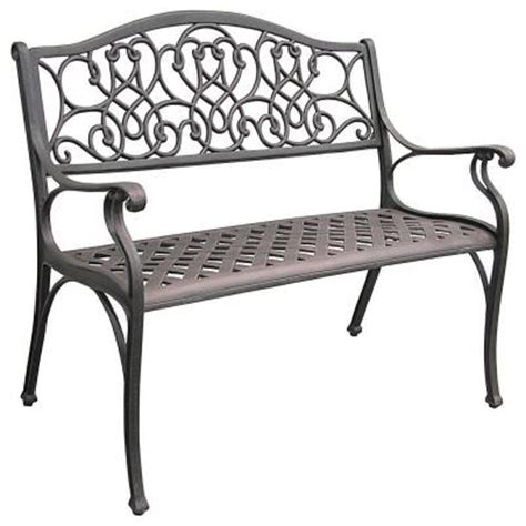 home depot outdoor bench legacy aluminum patio bench c530 62 the home depot