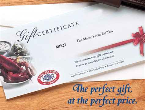 Legal Seafood Gift Cards - fresh new england seafood delivered legal sea foods