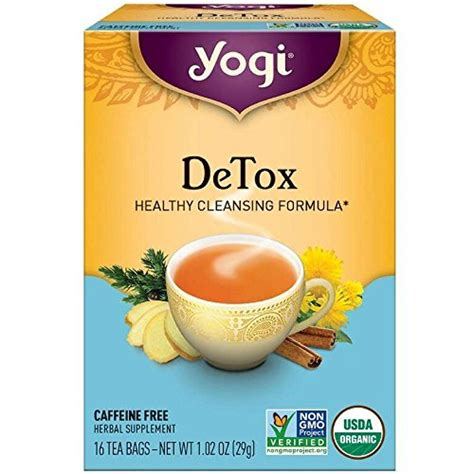 Yogi Roasted Dandelion Detox Tea Review by Yogi Tea Healthy Fasting 16 Count Pack Of 6 Packaging