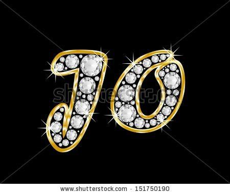 5 Letter Words Jo name jo made shiny diamonds style stock illustration