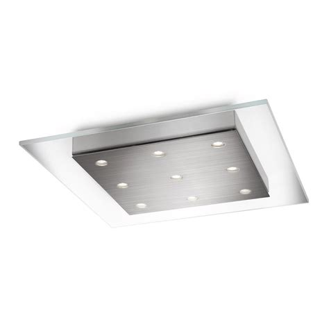 Led Flush Mount Kitchen Lighting Shop Philips Matrix 15 In W Brushed Nickel Led Flush Mount Light At Lowes
