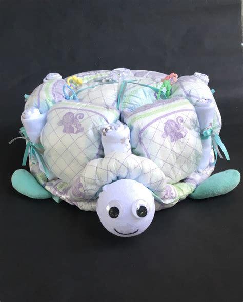 boat steering wheel diaper cake turtle diaper cake turtle baby shower turtle baby unique