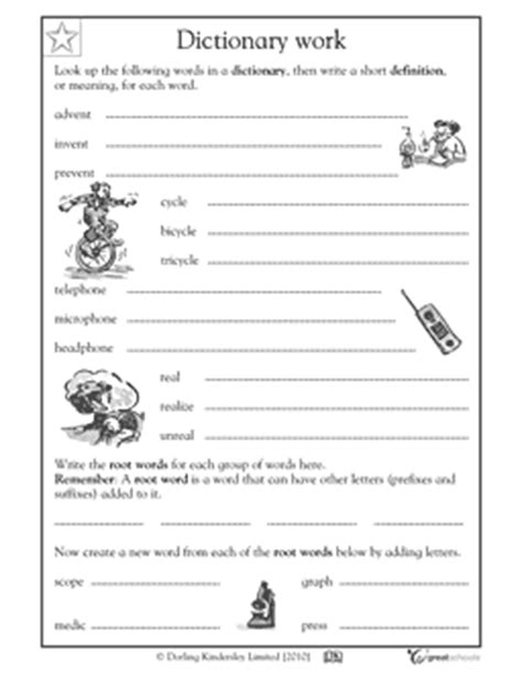 Dictionary Skills Worksheets 4th Grade by Free Using A Dictionary Printable