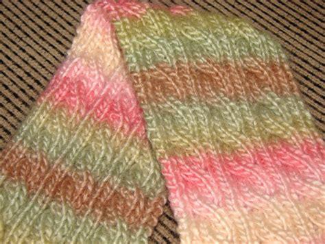 reversible knit scarf pattern a knitting