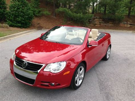 how cars run 2007 volkswagen eos auto manual purchase used 2007 volkswagen eos 2 0t turbo convertible 2 door 2 0l 07 vw red 6 speed manual in