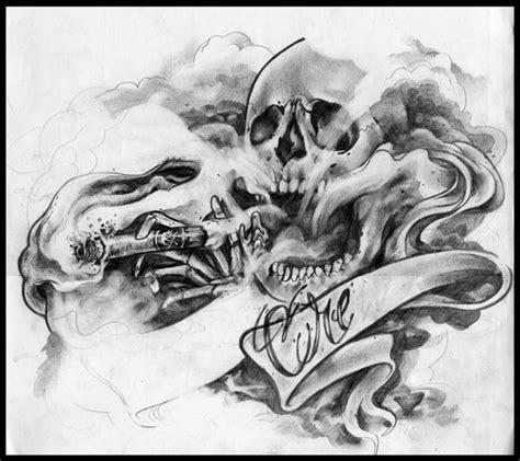 Smoking skull tattoo design best tattoo designs