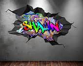 Graffiti Stickers For Walls wall sticker mural decal graphic wall art bedroom wall stickers wsd179