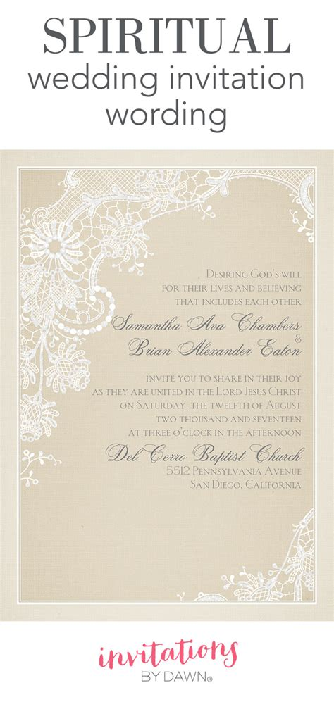 Wedding Invitation Wording For Third Marriage by Spiritual Wedding Invitation Wording Invitations By