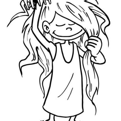 coloring your hair combing hair coloring pages www pixshark images