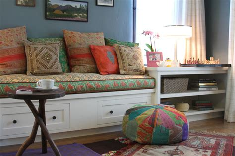 Livingroom Bench by Rowena Built In Bench Eclectic Living Room Los