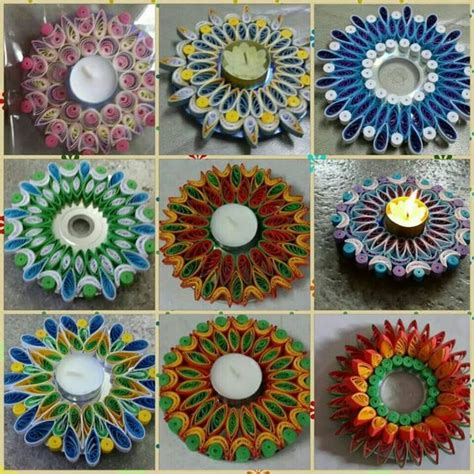 quilling diya tutorial candles and candle holders on pinterest