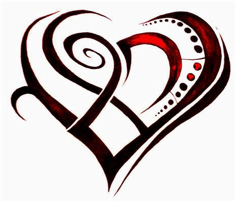 tribal broken heart tattoos broken tribel clipart best