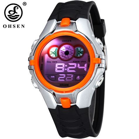 ohsen boys children digital sport alarm date