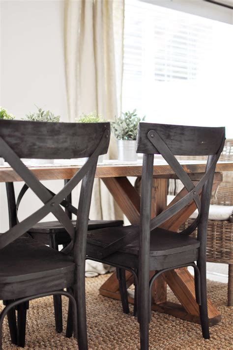 farm dining table and chairs x brace farmhouse table free plans cherished bliss