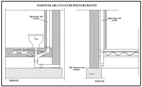 misure scarichi bagno bagni wc tubazioni di scarico dei singoli apparecchi