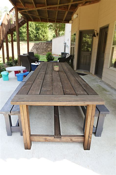 Outdoor Patio Table Plans Diy Patio Table Ideas Woodworking Projects Plans