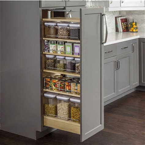 Pantry Cabinet Hardware by Pantry Pullout Shelves And Baskets View And Reach Items