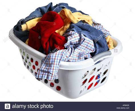 laundry basket laundry basket full of dirty clothes stock photo 5218093